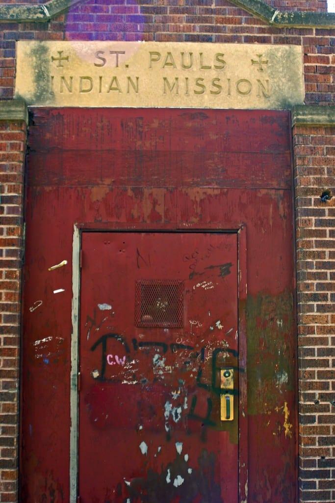 St Pauls Indian Mission Door