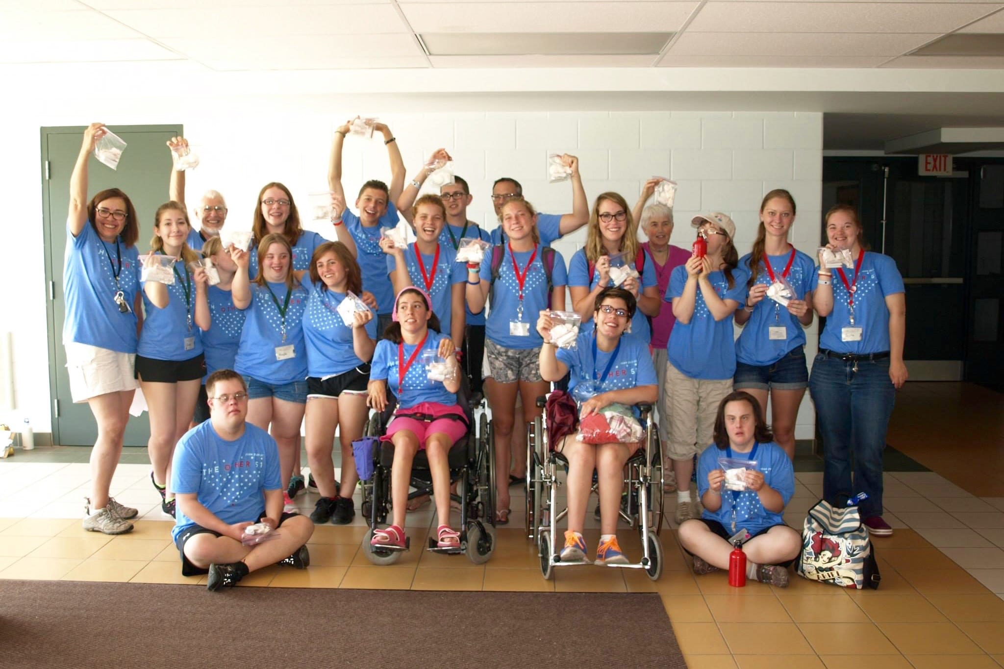 Special needs teen mission trip participants in Fruitland, Ontario