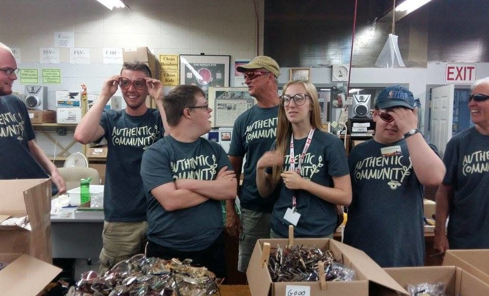 Sorting Glasses at Fruitland SERVE