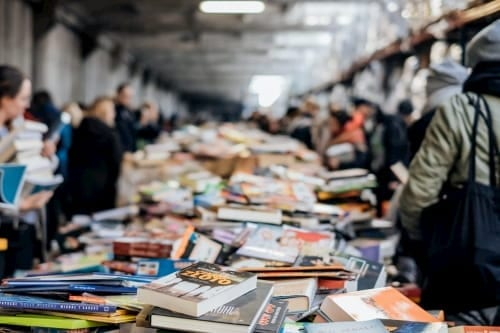 Book sale youth group fundraising idea