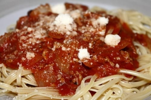 Spaghetti dinner fundraiser for youth mission trip