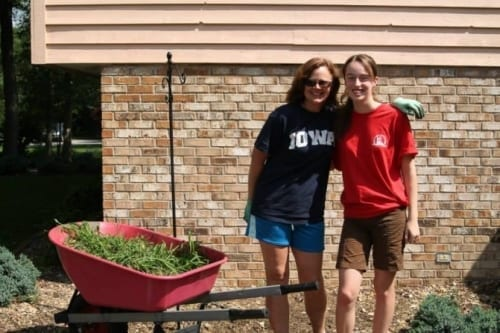 Yard work fundraiser idea for youth mission trips