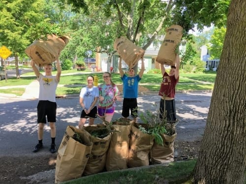 Yard waste cleanup youth mission trip fundraiser idea